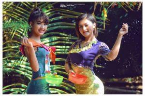 Two beautiful Myanmar girls